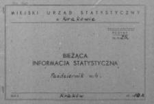 Bieżąca informacja statystyczna. Październik 1964