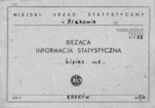 Bieżąca informacja statystyczna. Lipiec 1965