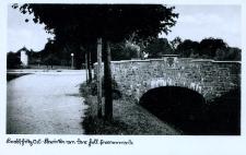 Głubczyce. Most nad Psiną. Dzisiejsza Aleja Lwowska. Przed 1945 r.