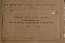 Sprawozdanie statystyczne z wykonania planu oraz o sytuacji gospodarczej województwa w roku 1965