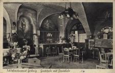 Grobniki. Izba gościnna w restauracji Zamkowej. Przed 1945 r.