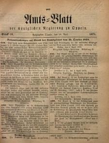 Amts-Blatt der Königlichen Regierung zu Oppeln, 1879, Bd. 64, St. 16