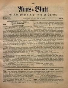 Amts-Blatt der Königlichen Regierung zu Oppeln, 1879, Bd. 64, St. 23