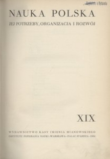 Nauka Polska, 1934, R. 19