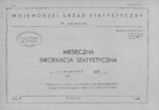 Miesięczna informacja statystyczna w listopadzie 1966, cz. I