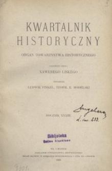 Kwartalnik Historyczny. R 33 (1919)