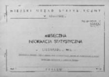 Miesięczna informacja statystyczna. Listopad 1966