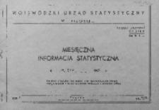 Miesięczna informacja statystyczna za maj 1967