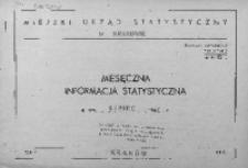 Miesięczna informacja statystyczna. Lipiec 1967