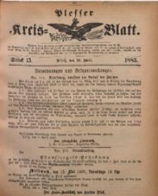 Plesser Kreis-Blatt, 1885, St. 15