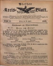Plesser Kreis-Blatt, 1885, St. 17