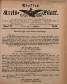 Plesser Kreis-Blatt, 1885, St. 37