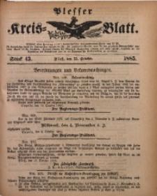 Plesser Kreis-Blatt, 1885, St. 43