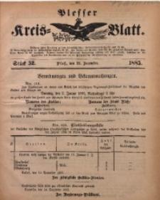 Plesser Kreis-Blatt, 1885, St. 52
