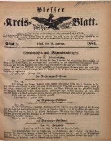Plesser Kreis-Blatt, 1886, St. 8
