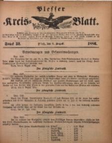 Plesser Kreis-Blatt, 1886, St. 32