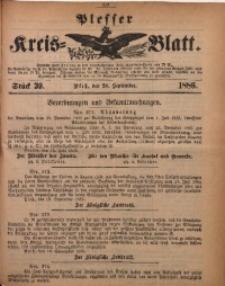 Plesser Kreis-Blatt, 1886, St. 39