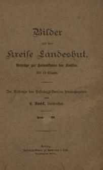 Bilder aus dem Kreise Landeshut. Beiträge zur Heimatkunde des Kreises