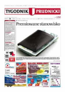 Tygodnik Prudnicki : prywatna gazeta lokalna gmin : Prudnik, Biała, Głogówek, Korfantów, Lubrza, Strzeleczki, Walce. R. 18, nr 18 (904).