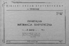 Kwartalna informacja statystyczna za III kwartał 1967 r.
