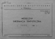 Miesięczna informacja statystyczna. Luty 1968