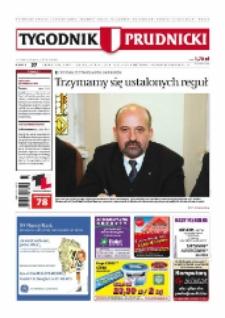Tygodnik Prudnicki : prywatna gazeta lokalna gmin : Prudnik, Biała, Głogówek, Korfantów, Lubrza, Strzeleczki, Walce. R. 18, nr 37 (924) [923].