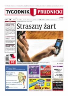 Tygodnik Prudnicki : prywatna gazeta lokalna gmin : Prudnik, Biała, Głogówek, Korfantów, Lubrza, Strzeleczki, Walce. R. 18, nr 39 (926) [925].