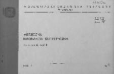 Miesięczna informacja statystyczna za wrzesień 1968