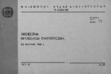 Miesięczna informacja statystyczna za listopad 1968