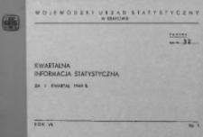 Kwartalna informacja statystyczna za I kwartał 1969 r.
