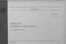 Miesięczna informacja statystyczna za czerwiec 1969