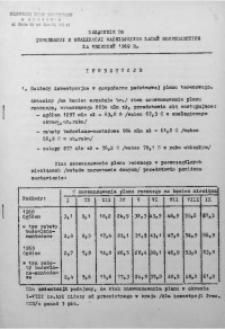 Załącznik do Informacji o realizacji ważniejszych zadań gospodarczych za wrzesień 1969 r.