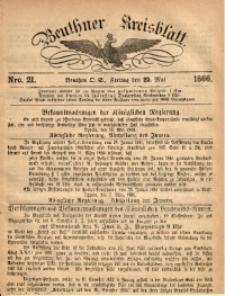 Beuthner Kreisblatt, 1866, Nro. 21