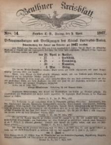 Beuthner Kreisblatt, 1867, Nro. 14