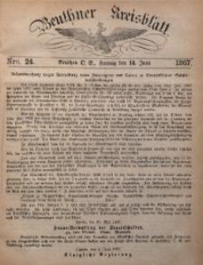 Beuthner Kreisblatt, 1867, Nro. 24