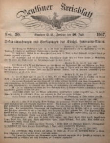 Beuthner Kreisblatt, 1867, Nro. 30