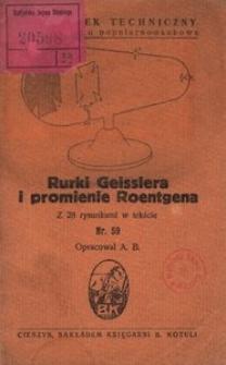 Rurki Geisslera i promienie Roentgena