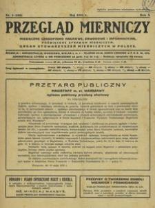 Przegląd Mierniczy 1933, nr 5