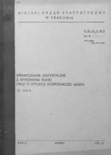 Sprawozdanie statystyczne z wykonania planu oraz o sytuacji gospodarczej miasta za 1970 r.