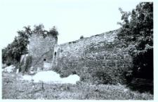 Głubczyce. Mur obronny przy klasztorze od strony południowej.