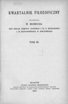 Kwartalnik Filozoficzny. R 3 (1925)