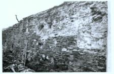 Głubczyce. Wewnętrzne mury obronne od strony wschodniej przy klasztorze.