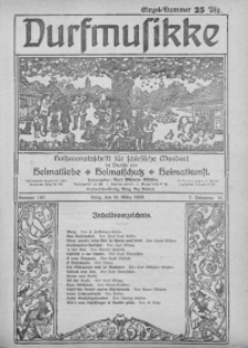 Durfmusikke, 1920, Jg. 7, Nr. 157