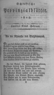 Schlesische Provinzialblätter, 1825, 81. Bd., 2. St.: Februar