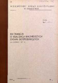 Informacja o realizacji ważniejszych zadań gospodarczych za czerwiec 1971 r.