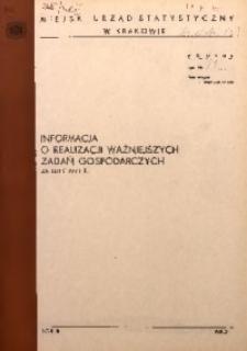 Informacja o realizacji ważniejszych zadań gospodarczych za luty 1971 r.