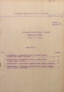 Informacja statystyczna z zakresu stanu zatrudnienia w dniu 30 VI 1972 r.