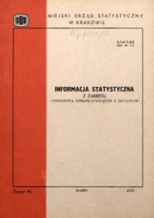 Informacja statystyczna z zakresu szkolnictwa ogólnokształcącego i zawodowego
