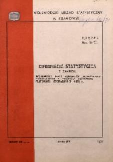 Informacja statystyczna z zakresu zmianowości pracy robotników bezpośrednio produkcyjnych w przemyśle państwowym planowanym centralnie w 1972 r.