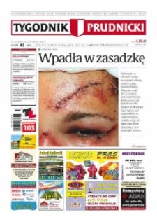 Tygodnik Prudnicki : prywatna gazeta lokalna gmin : Prudnik, Biała, Głogówek, Korfantów, Lubrza, Strzeleczki, Walce. R. 19, nr 43 (983) [982].